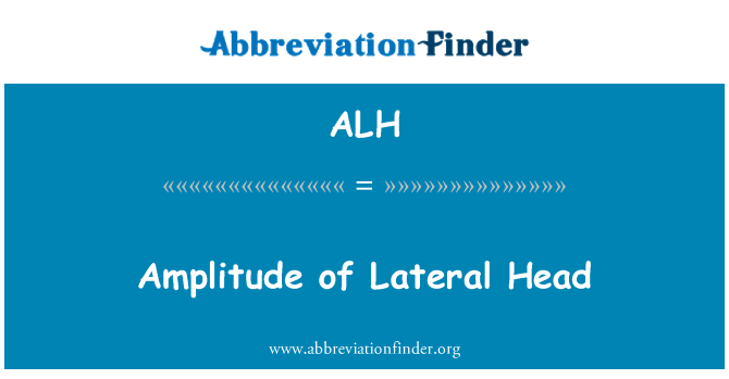 ALH: Amplitude of Lateral Head