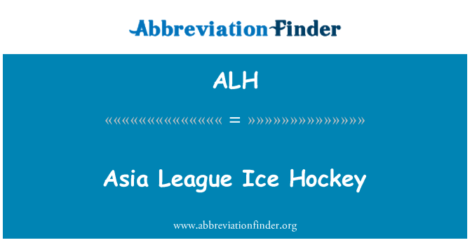 ALH: Asia League Ice Hockey