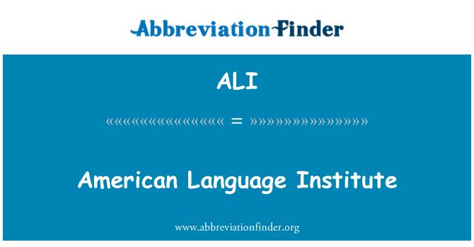 ALI: American Language Institute