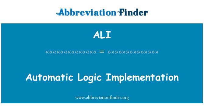 ALI: Automatic Logic Implementation