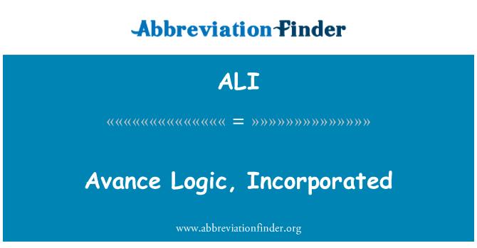 ALI: Avance Logic, Incorporated