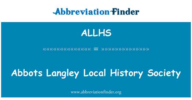 ALLHS: Abbots Langley Local History Society