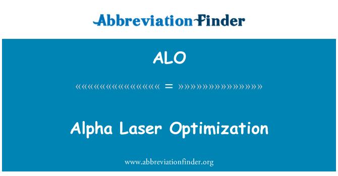ALO: Alpha Laser Optimization