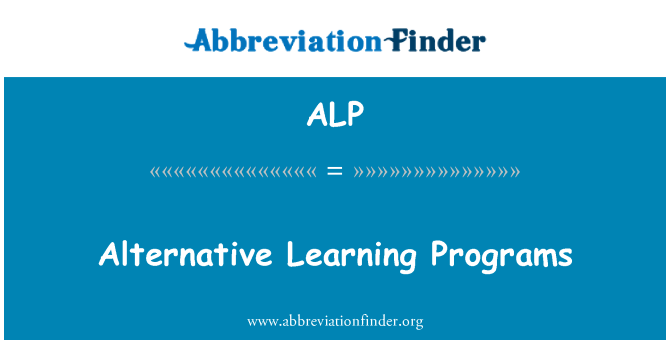 ALP: Alternative Learning Programs