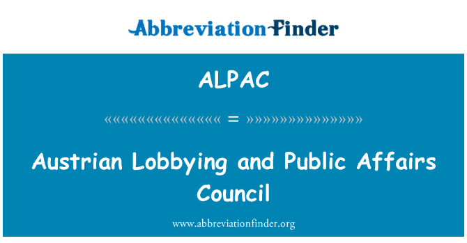 ALPAC: Cabildeo austríaco y el Consejo de asuntos públicos