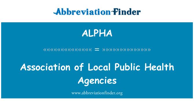 ALPHA: Asociación de agencias de salud pública Local