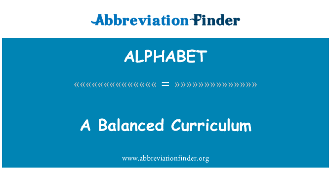 ALPHABET: Un currículo equilibrado