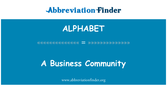 ALPHABET: Una comunidad de negocios