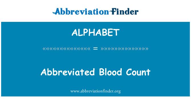 ALPHABET: Conteo sanguíneo abreviado
