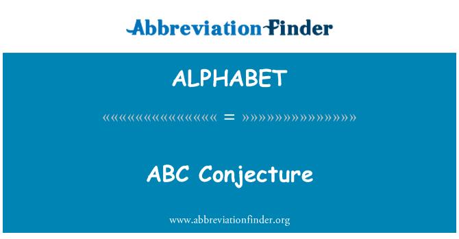 ALPHABET: Conjetura ABC