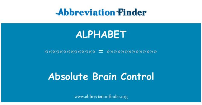 ALPHABET: Control absoluto cerebral