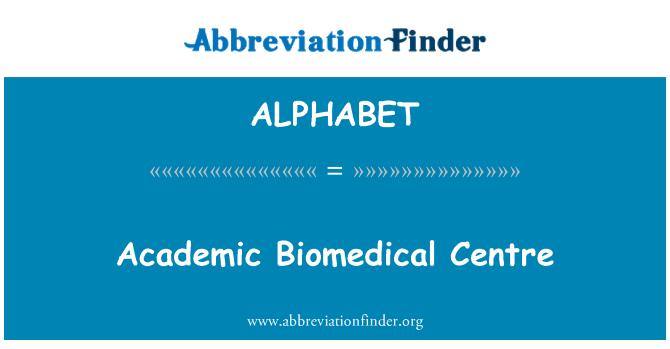 ALPHABET: Centro académico de biomédica