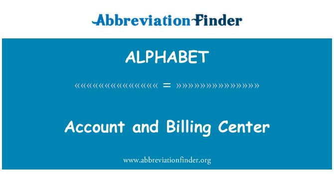 ALPHABET: Centro de facturación y cuenta