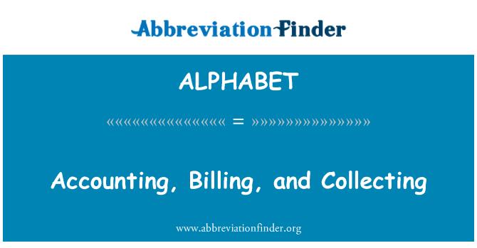 ALPHABET: Contabilidad, facturación y recogida