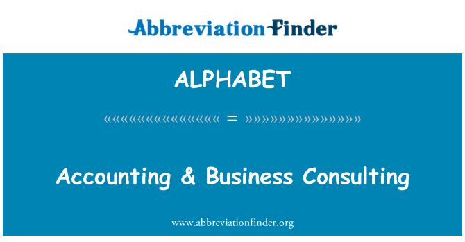 ALPHABET: Contabilidad & Business Consulting