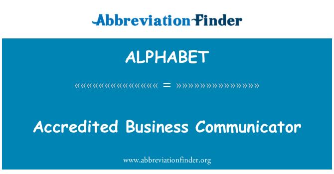 ALPHABET: Comunicador de negocios acreditados
