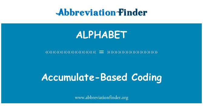 ALPHABET: Koguneda põhinev kodeerimine