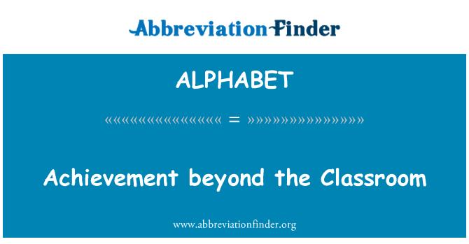 ALPHABET: Logro más allá del aula