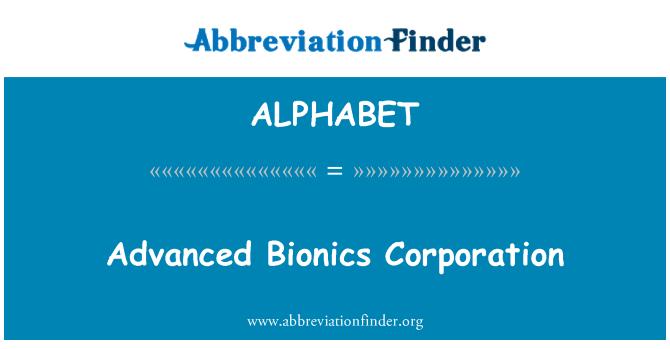 ALPHABET: Lanjutan bionik Corporation