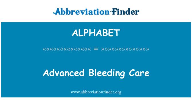 ALPHABET: Avanzada sangrando cuidado