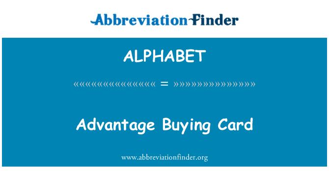 ALPHABET: Ventaja comprar tarjeta