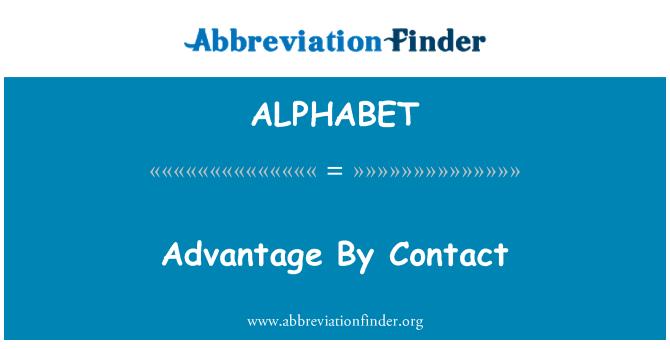 ALPHABET: Ventaja por contacto