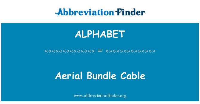 ALPHABET: Cable aéreo Bundle