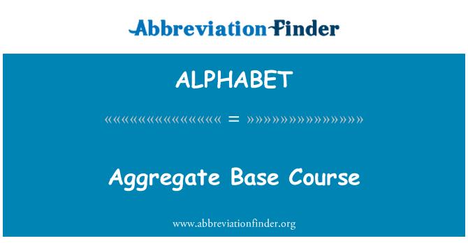 ALPHABET: Kokku baas kursus