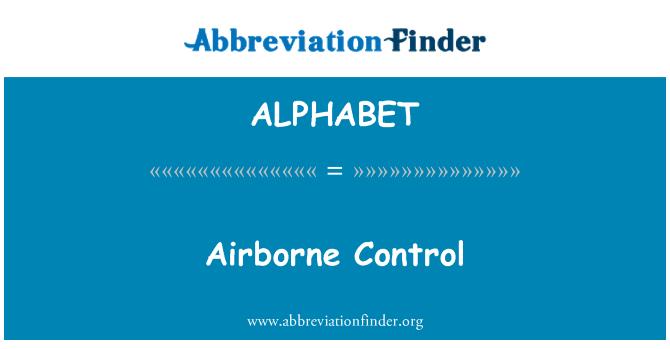 ALPHABET: Control aéreo