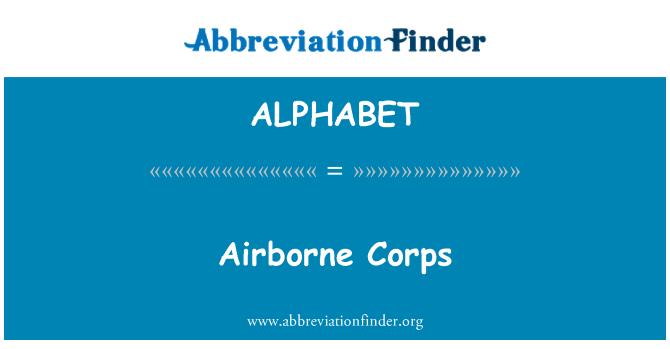 ALPHABET: Cuerpo aerotransportado