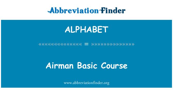 ALPHABET: Curso básico de aviador