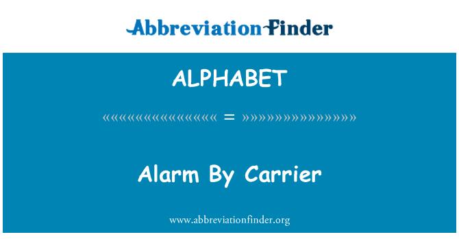 ALPHABET: Alarm vedaja poolt