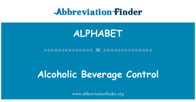 ALPHABET: Control de bebidas alcohólicas