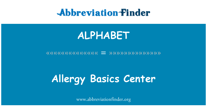 ALPHABET: Centro de alergia Basics