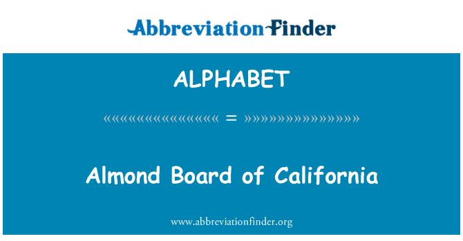 ALPHABET: Tablero de almendras de California