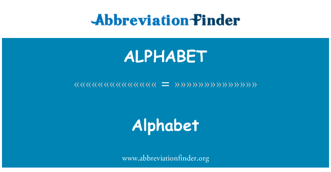 ALPHABET: อักษร