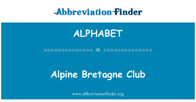 ALPHABET: Club Alpino Bretagne