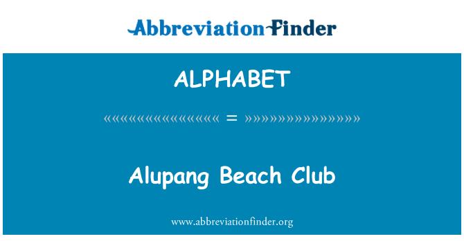 ALPHABET: Alupang Beach Club