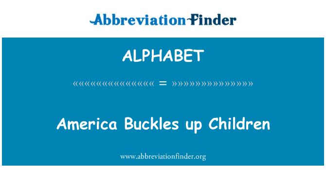 ALPHABET: Ameerikas pandlad laste