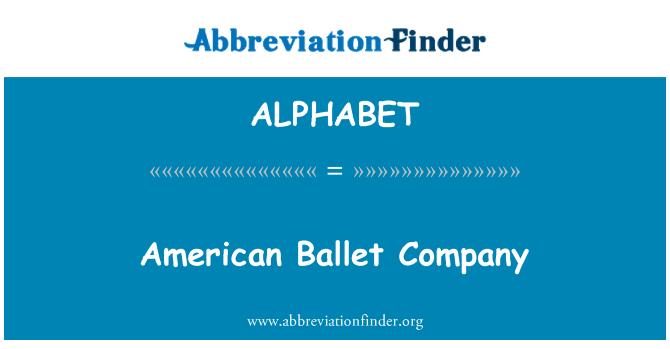 ALPHABET: American Ballet Company