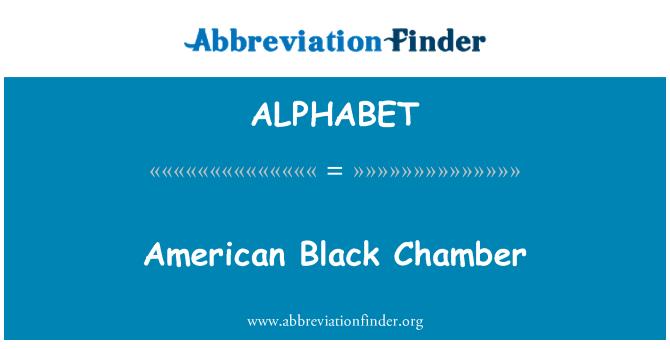 ALPHABET: American Chamber negro