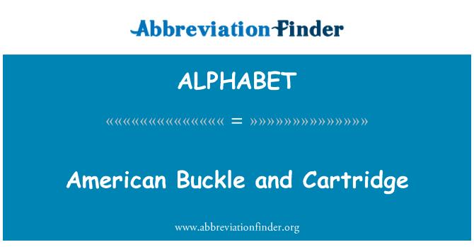 ALPHABET: Cartucho y hebilla americana
