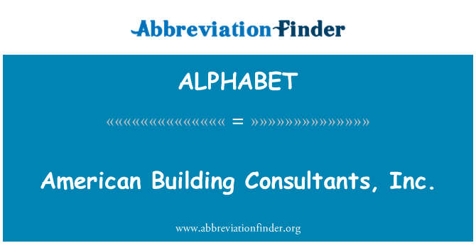 ALPHABET: Edificio American Consultants, Inc.