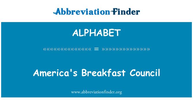 ALPHABET: Consejo de los Estados Unidos desayuno