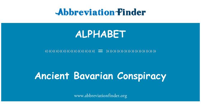 ALPHABET: Antigua conspiración bávara