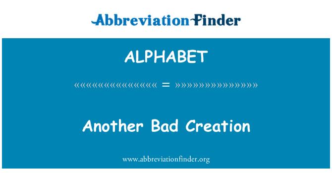 ALPHABET: Otra creación de mala
