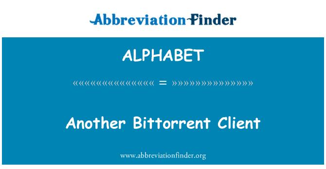 ALPHABET: Otro cliente de Bittorrent