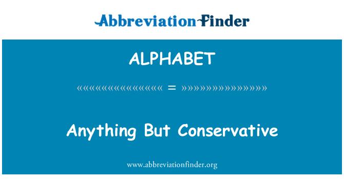 ALPHABET: Cualquier cosa menos conservador