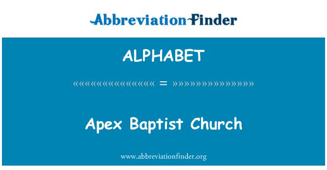 ALPHABET: Iglesia Bautista Apex