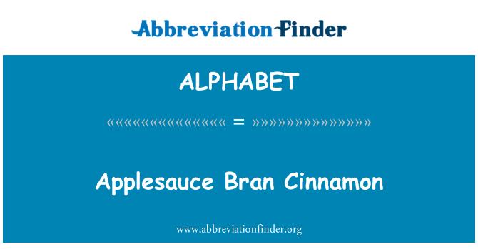 ALPHABET: Compota de manzana Bran canela